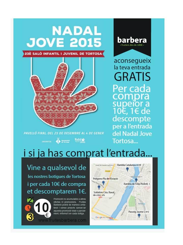 cartell Nadal Jove Fruites Barberà Tortosa